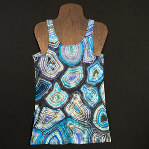 Women's Small Old Navy Blue Agate Geode Tie Dye Tank Top