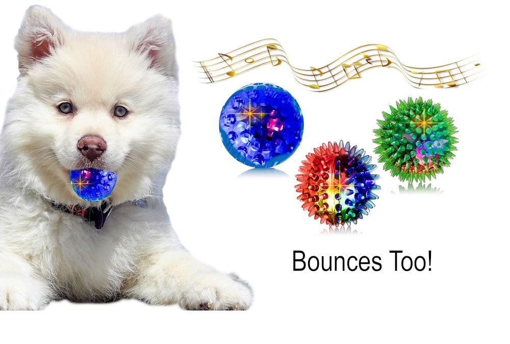 3 Squeaky Dog Ball Toys 6 Different Ways Capture Your Dogs Attention, 3 Different Funny Sounds for Small Medium Dogs and blind Dogs, Soft Dog Toys Easy For Dogs To Grab, Goofy Waggle Bounce Toy Only A Few Left !