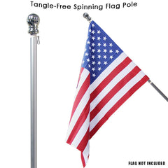 Spinning Flag Pole Silver (Case of 6)