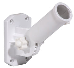 Adjustable Flag Pole Bracket White Nylon (Case of 6)