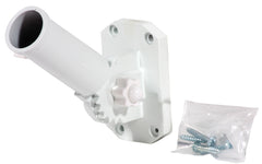 Adjustable Flag Pole Bracket White Metal (Case of 6)