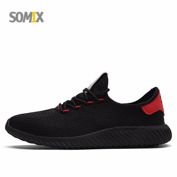 Somix Mesh (Air Mesh) Men's Light Running Shoes New Breathable Outdoor Fitness Sneakers for Men Fun Run Jogging Sport Shoes Male