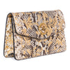 Arabesque Python Clutch With Custom Swarovski Stone