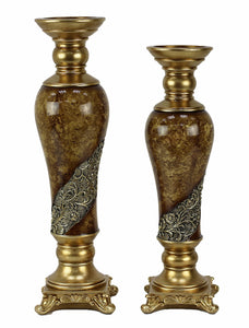 Torina Design 2 pc hurricane candlestick set