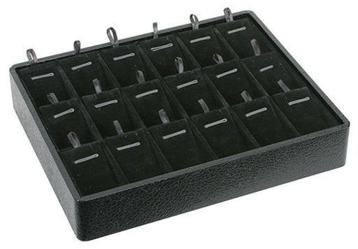 M&M PT918V-BK Stackable 18 Pendant Tray Black & Black