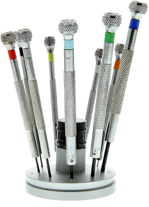 14353 Set of 9 Jeweler Precision Screwdrivers with Storage Base