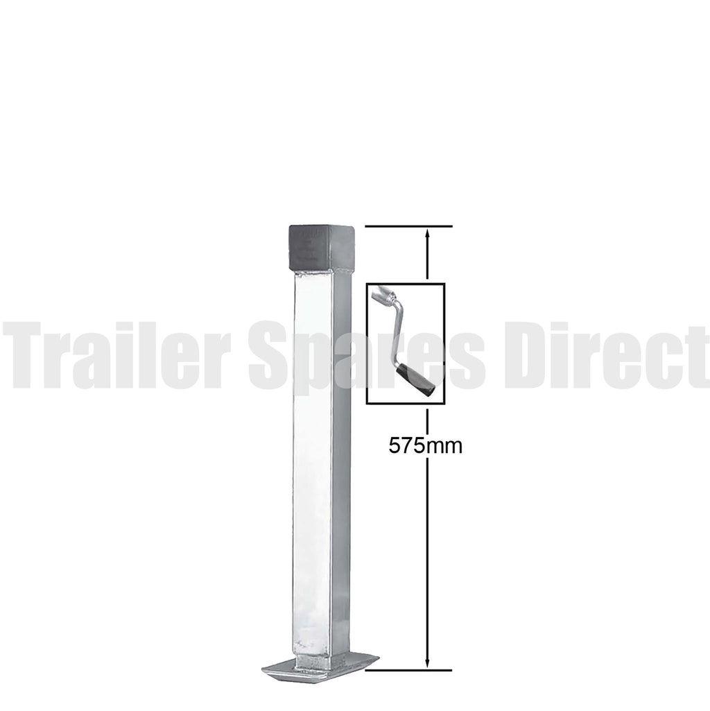 Side winding adjustable stand with loose handle
