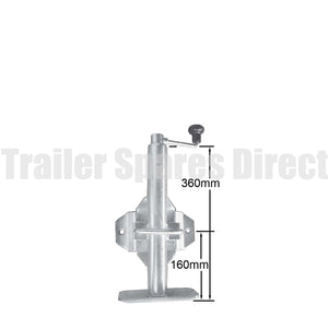 Top winding adjustable stand with swivel/swing up