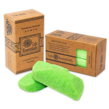 Lulu Essentials Foot Pumice (2 Pack) Scrubber Stone Sponge, Bath and Shower, Feet Care