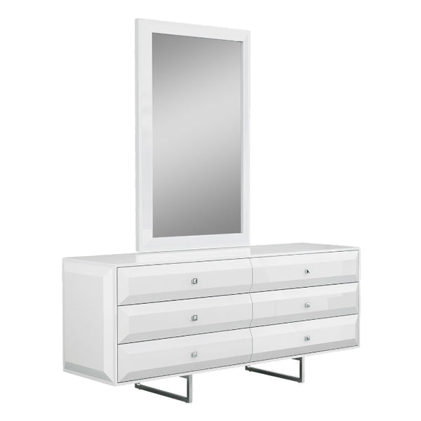 Abrazo 6 Drawer Dresser with Optional Mirror