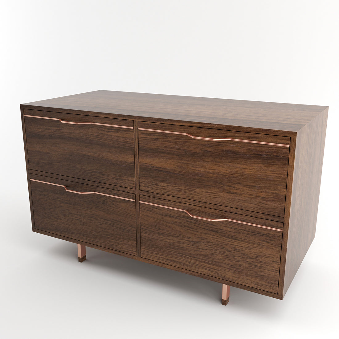 Chapman Walnut Double Unit Storage Cabinet w/ Drawers