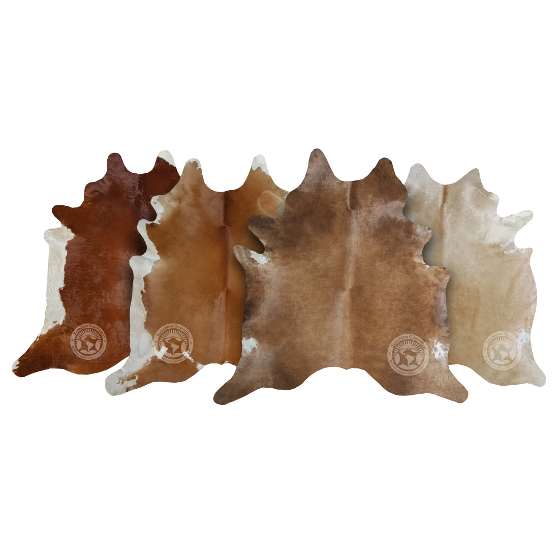 Natural Cowhide Rug - Light Tones