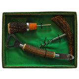 Vintage West German Stag Handle Bar Tool Boxed Set | The Hour Shop Barware