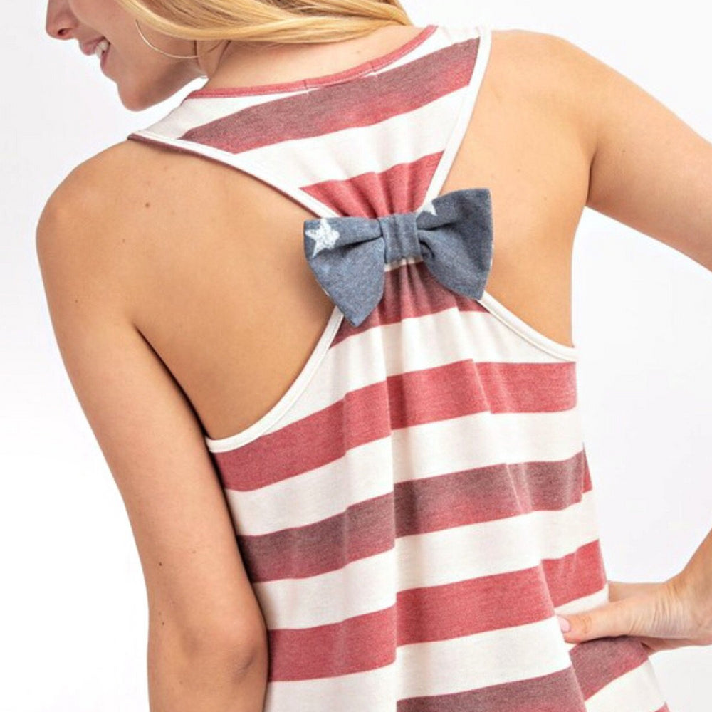 'Merica Bow Detail Racerback Top