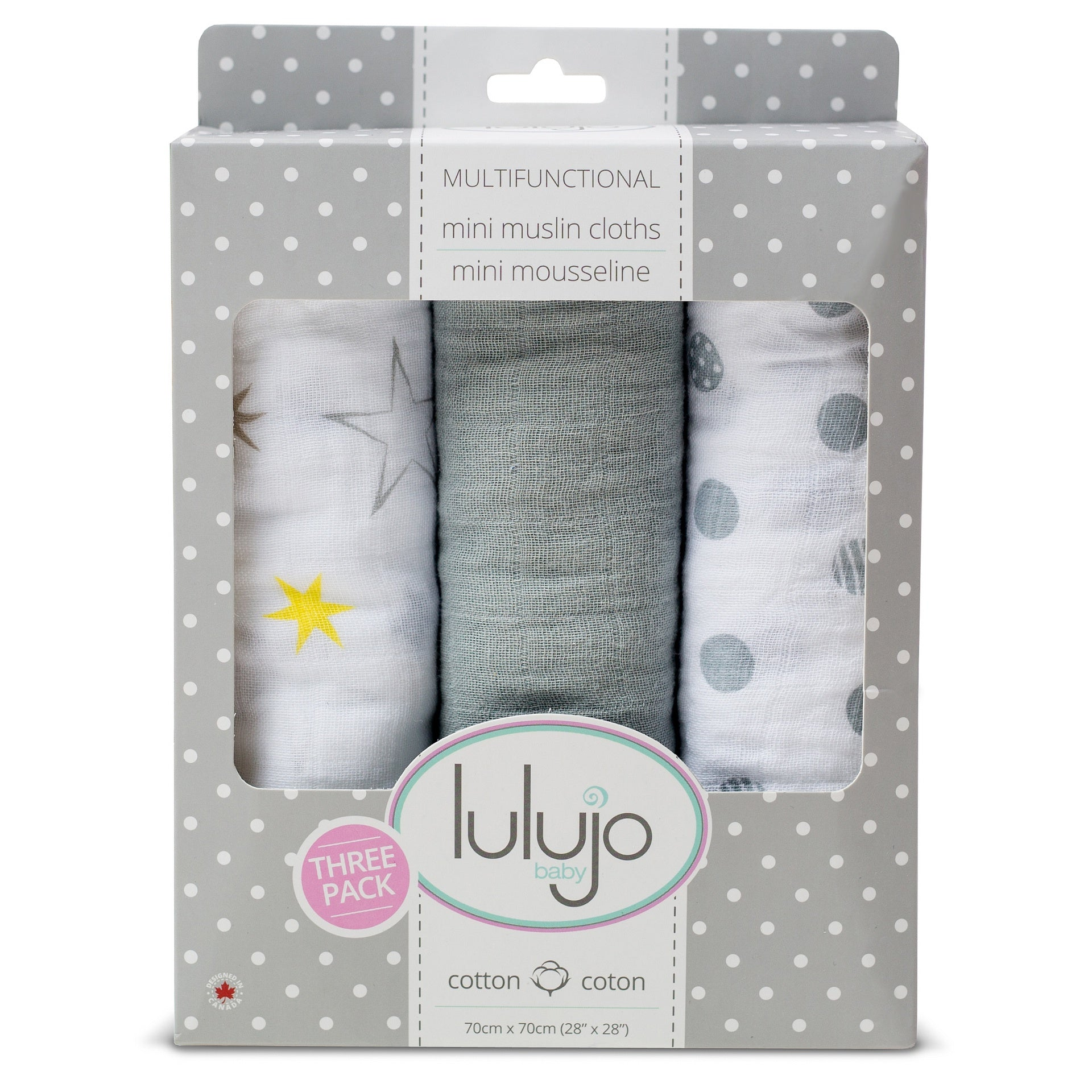 Calming Grey Mini Cotton Cloths