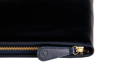 Leather Portfolio | Pablo Black - Zip Closed