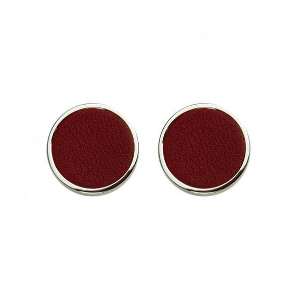 Personalised Cufflinks | Douglas Burgundy - Front