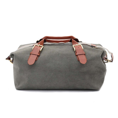 Leather Duffle Bag | Mick Olive Green 7
