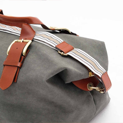 Leather Duffle Bag | Mick Olive Green 5