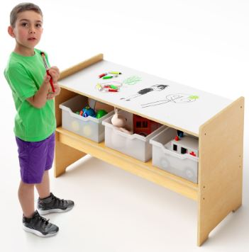 Whitney Brothers WB0545 Play Table With Trays And Markerboard Top