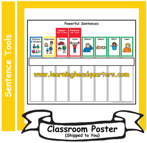 5: Powerful Sentences Chart - Individual Poster