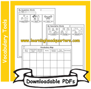 4: Vocabulary Tools - Downloadable PDFs