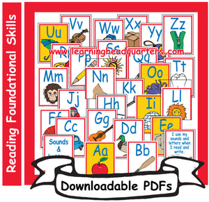 K: Sounds & Letters Alphabet Large Cards - Downloadable PDFs