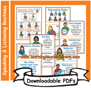 6: Discussion Roles - Downloadable PDFs