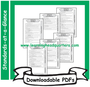 K: Common Core State Standards-at-a-Glance (ELA) - Downloadable PDFs