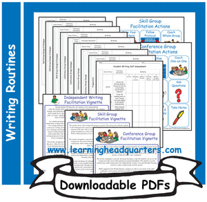 6: Student Writing Facilitation Tools - Downloadable PDFs