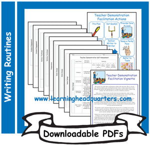 K: Teacher Demonstration Facilitation Tools: Writing - Downloadable PDFs