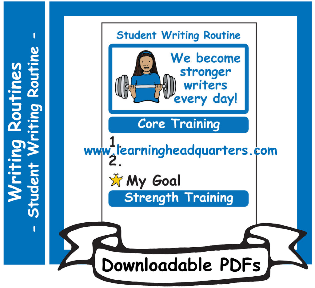 6: Student Writing Routine - Downloadable PDFs
