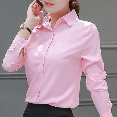 Womens Blouses Cotton Tops and Blouses Casual Long Sleeve Ladies Shirts