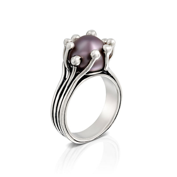 Sterling Silver Cultured Pearl Ring  - Paz Creations Jewelry