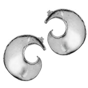 Sterling Silver Spiral Stud Earrings  - Paz Creations Jewelry