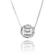 Sterling Silver Personalized Pendant Necklace - NESTED PENDANT  - Paz Creations Jewelry