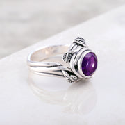 Sterling Silver African Amethyst Gemstone Cocktail Ring  - Paz Creations Jewelry
