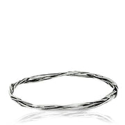 Sterling Silver Twisted Bangle  - Paz Creations Jewelry