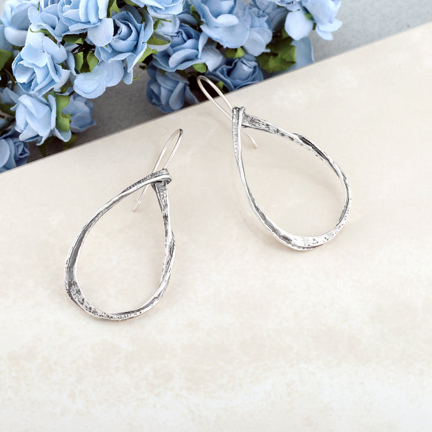 Sterling Silver Dangle Earrings - Pear Shaped  - Paz Creations Jewelry