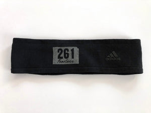 Black Fearless Headband with Reflective Logo