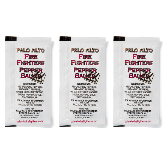 Palo Alto Firefighters Habanero Hot Sauce - 3 Packets