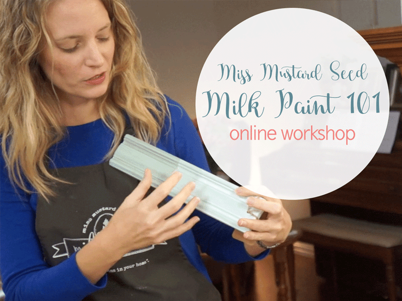MMS Milk Paint 101 Workshop Online