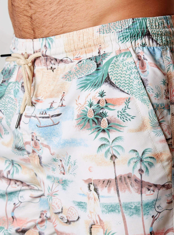 Kamehameha Printed Swim Shorts,Swim Trunks,7Diamonds,7Diamonds