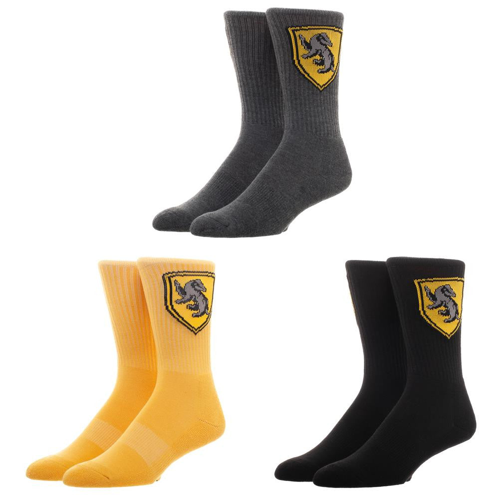 Harry Potter Hufflepuff 3-Pack Crew Socks Set