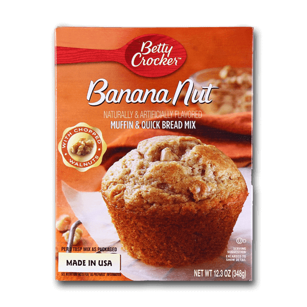 BETTY CROCKER Banana Nut Muffin & Quick Bread Mix  (348g)