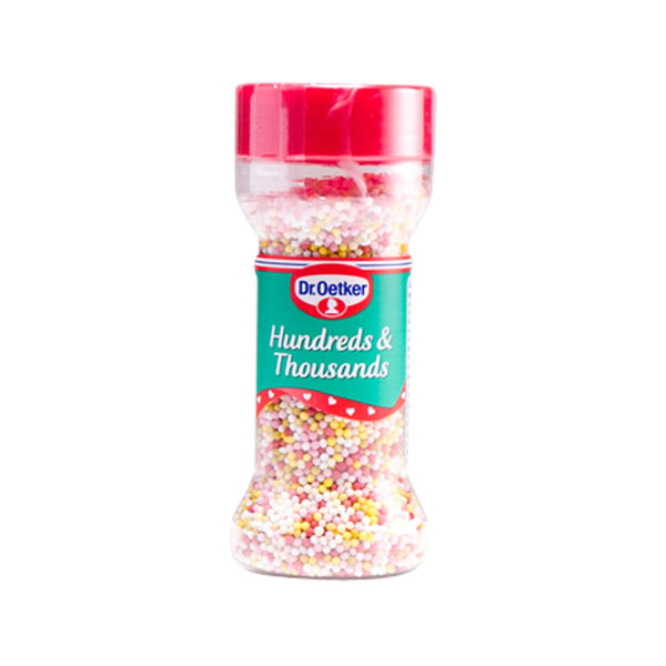 DR. OETKER Hundreds & Thousands Colored Sugar Balls  (65g)