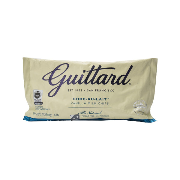 GUITTARD Vanilla Milk White Chocolate Chips  (340g)