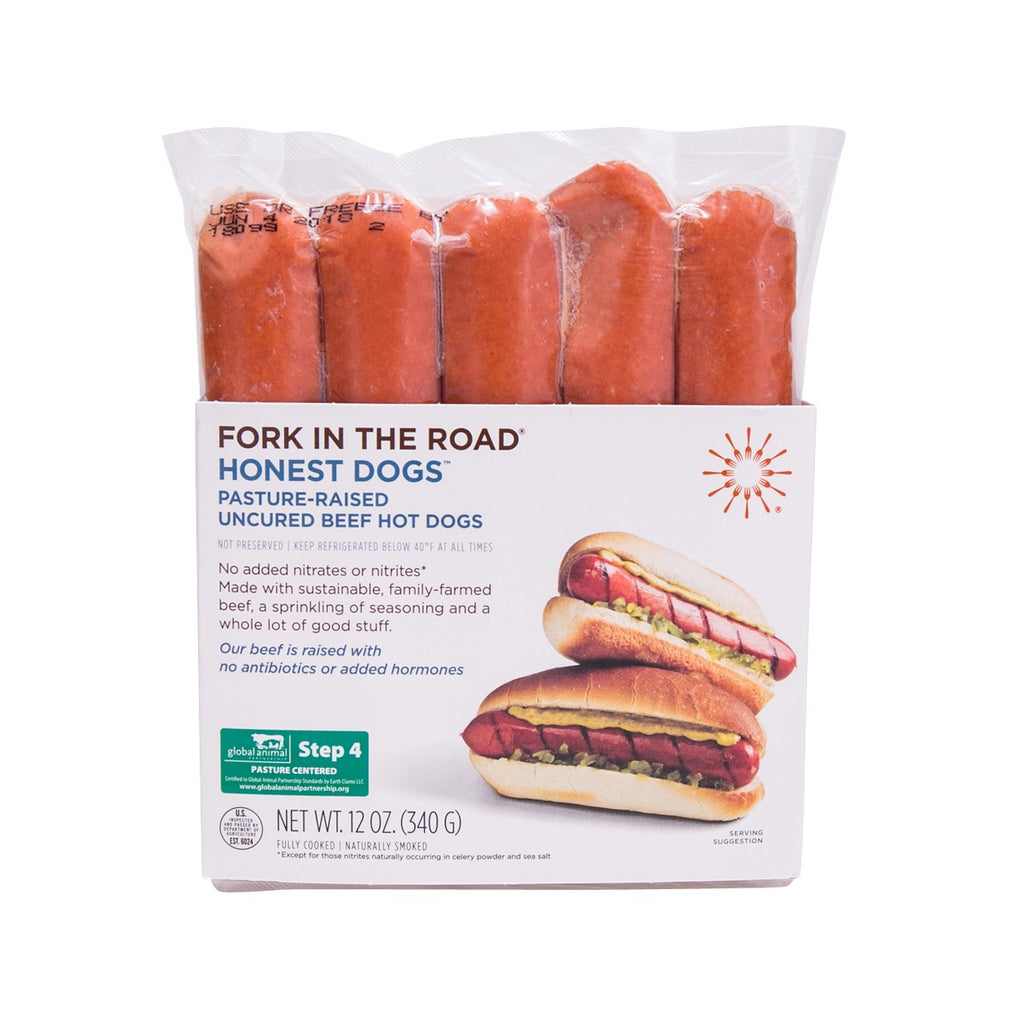 FORK IN THE ROAD Honest Dogs™ Pasture-Raised Uncured Beef Hot Dogs  (340g)