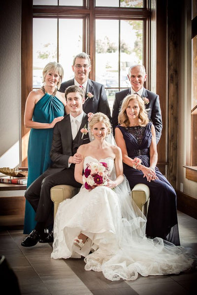 wedding budget family portrait bride groom parents