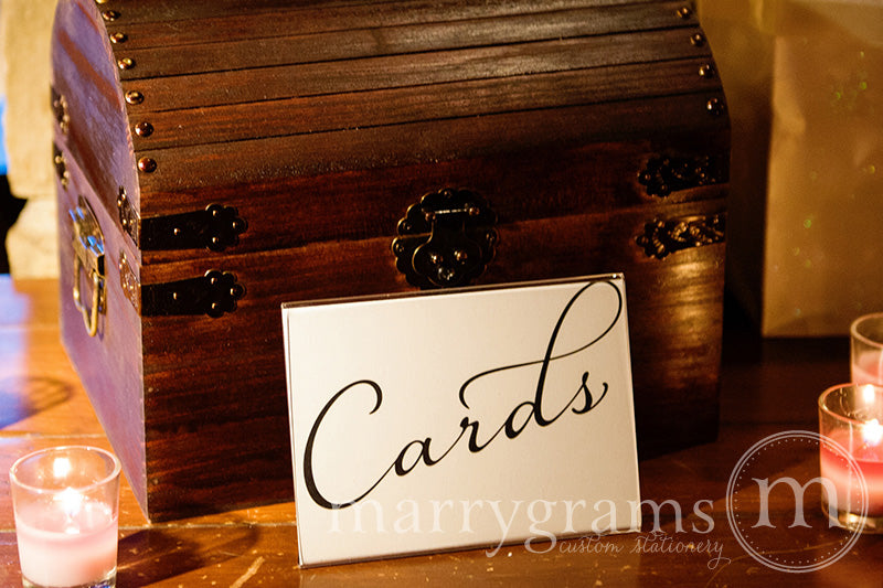 Cards Wedding Reception Card Table Sign Diagonal Style